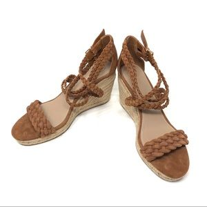 🆕 TORY BURCH brown suede espadrille sandals